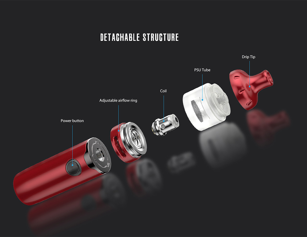 Vandy Vape Berserker S Kit structure